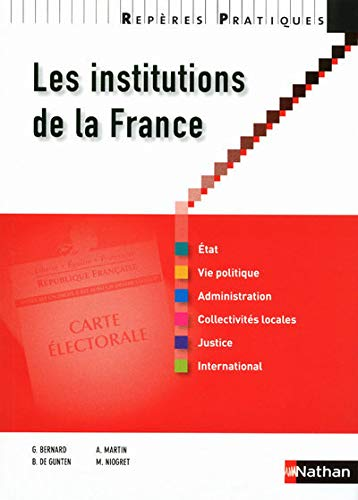 RP INSTITUTIONS DE LA FRANCE N