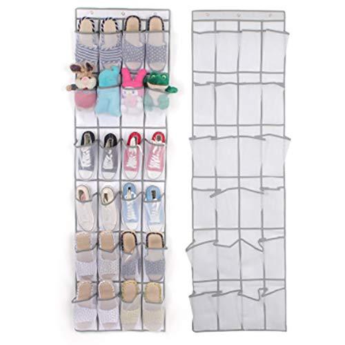 Zapatero de almacenamiento 24 zapatos de bolsillo Puerta de espacio Colgando Bolsa de almacenamiento Rack Wall Bolsa de colgante Gabinete de almacenamiento Accesorios Fácil de montar y ahorrar espacio