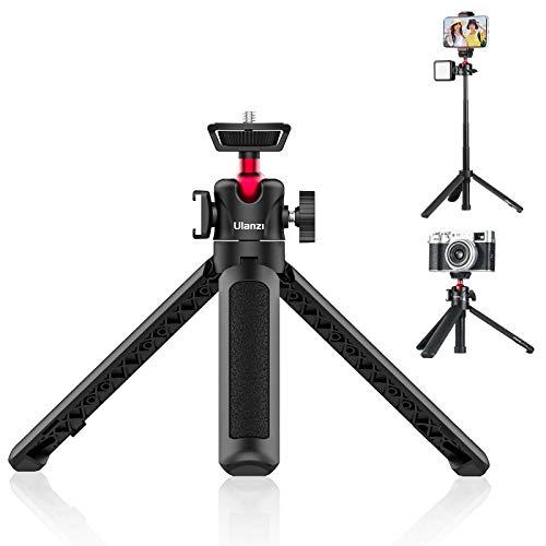 MT-16 Mini Stativ Kamera Extendable Tripod Handy Stativ mit 360° Mini-Kugelkopf Stativ für Smartphone mit Cold Shoe Selfiestick