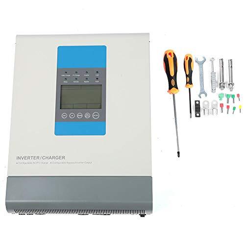 Reiner Sinus-Wechselrichter, 2400 W 24 V 30 A MPPT LCD-Design Photovoltaik-Solarwechselrichter Hybrid-Wechselrichter-Controller Batterieladegerät Netzteil-Wechselrichter mit 4 Lademodus und USV