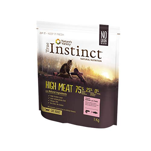True Instinct High Meat Adult - Pienso para Gatos Adultos con Salmón - 1kg