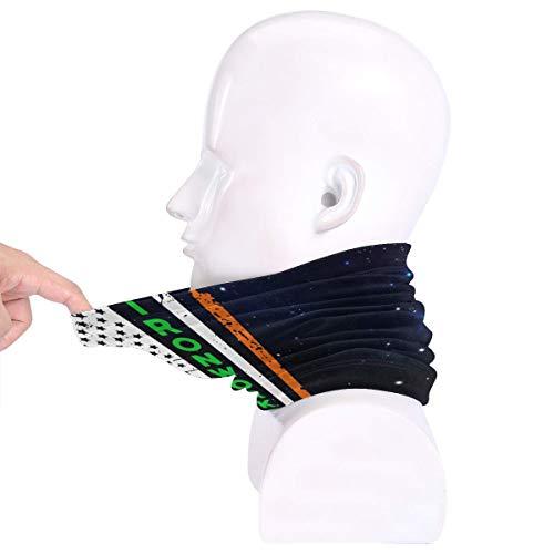 Ironworker Irish American Flag St. Patrick's Day Men Women Cold Weather Neck Gaiter Tube Face Mask