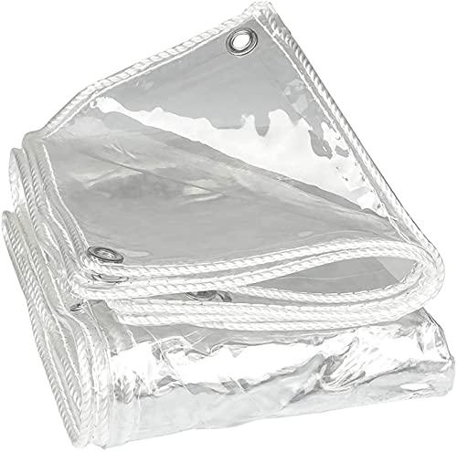 BYCDD Klare Tarps Wasserdicht, mit Tüllen, transparent wetterfester Planenabdeckung im Freien Garten Patio Vorhang Sonnencreme,Transparent_1.5x2m/4.5x6ft