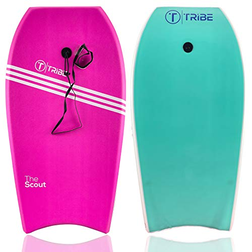"""Tribe Boards Scout 36"""" Bodyboard - Pink/White/Turquoise"""