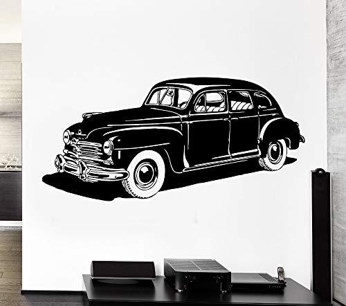Tianpengyuanshuai Rad Auto Leder Wandaufkleber Vinyl Classic Home Wohnzimmer Dekoration Wandmalerei Design Autotapete 56X114cm