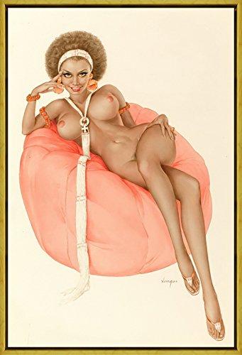 Berkin Arts Rahmen Alberto Vargas Giclée Leinwand Prints Gemälde Poster Reproduktion(Pin Up Girls 27)
