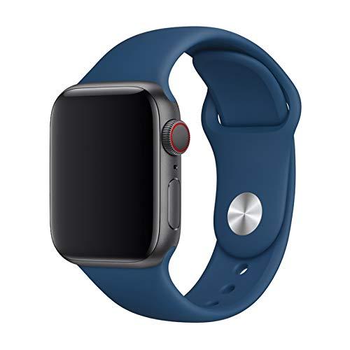 Pulseira Esportiva em Silicone para Apple Watch 42mm 44mm Devia - Blue Horizon