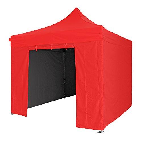 GREADEN Tente Pliante Rouge 3x3m Super Robuste Tube 40mm en Aluminium Bâche 300g/m2 étanche Barnum Pliante + Sac de Transport