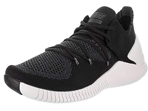 Nike Women's Free TR Flyknit 3 Running Shoe, Black/White-Dark Grey, Size 9.5