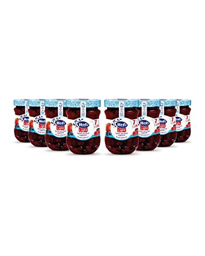 Hero Light Confettura di Frutti di Bosco light, 8 vasetti da 280 gr, marmellata e confettura extra, frutta di alta qualità, senza conservanti e senza coloranti, pochissime calorie per porzione