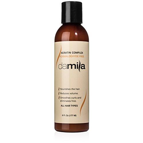 Damila Keratin Complex Hair Treatment - Smoothing, Straightening, Anti-Frizz Formaldehyde Free Keratin Home Treatment, 6 Fl. Oz