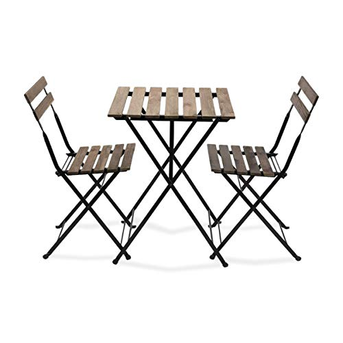 EventStable French Bistro Folding Table and Chair Set - Durable...