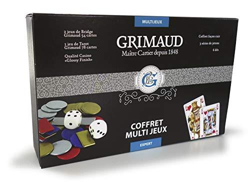 Grimaud multijeux Expert 78 Tarot, 2 Jeux de 54 Cartes, 6 dé