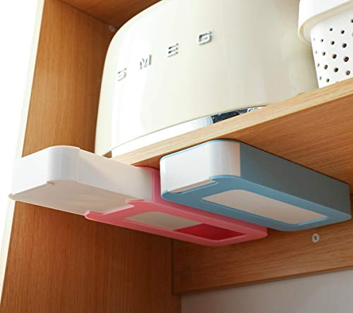 Under Table Drawer, Hidden Self-Adhesive Tray Drawer,Under Desk Holder Storage Box, Stationery...
