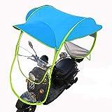 CCHM Copertura Antipioggia Parasole per Scooter Moto, Ombrello Veicolo Elettrico Mobilità Impermeabile Poncho Antipolvere,Blu