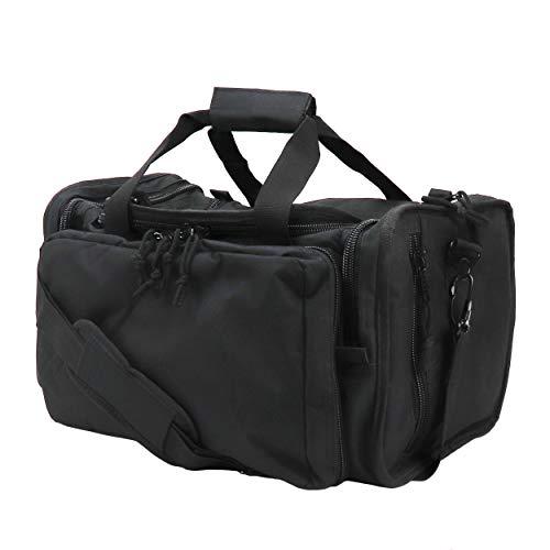 Osage River Tactical Shooting Gun Range Bag, Black , Light Duty (13.5 x 10.5 x 7.5) Inches