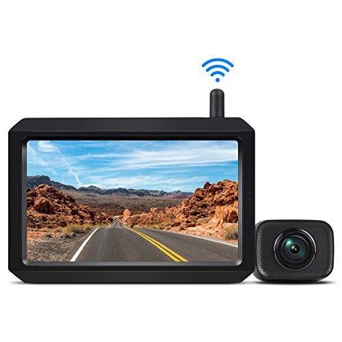 AUTO-VOX W7 Wireless Backup Camera Kit, 5 Inch Monitor with Stable Digital...
