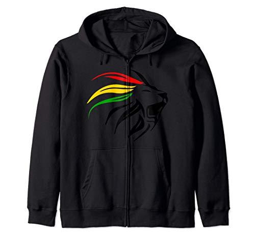 Rasta Reggae Lion Art per Rastafari Lover Felpa con Cappuccio