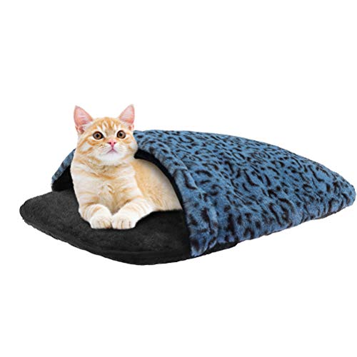 Cuddle Cat Cave Bed for Indoor Cats & Small Dogs, Cat Calming Bed for Anxiety,...