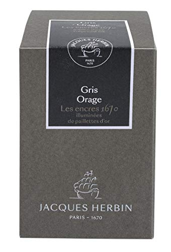 Jacques Herbin 1670 Blue Ocean - Inchiostro, 50 ml 1670 Grigio Stormy
