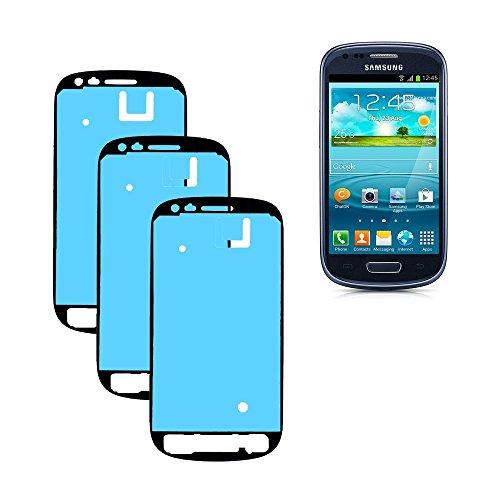 BCSHOP - KIT 3 BIADESIVO PER Samsung Galaxy MINI S3 I8190 COLLA FISSAGGIO VETRO SCHERMO