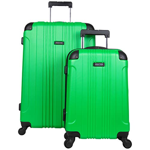 Kenneth Cole Reaction Out Of Bounds 2-Piece Lightweight Hardside 4-wheel Spinner Luggage Set: 20' Carry-On & 28' Checked Suitcase, Kelly Green