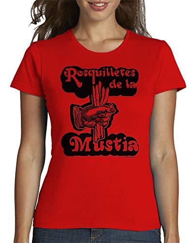 latostadora - Camiseta Rosquilletes de la Mustia para Mujer Rojo L