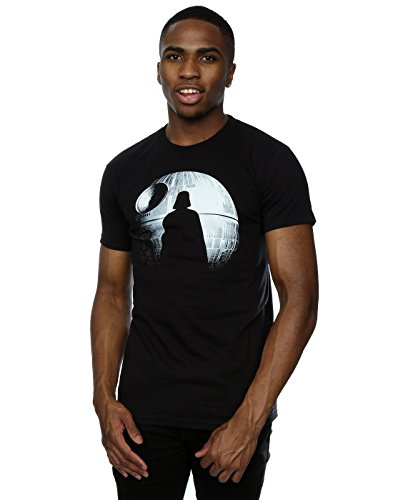 Star Wars Hombre Rogue One Death Star Darth Vader Silhouette Camiseta Large Negro