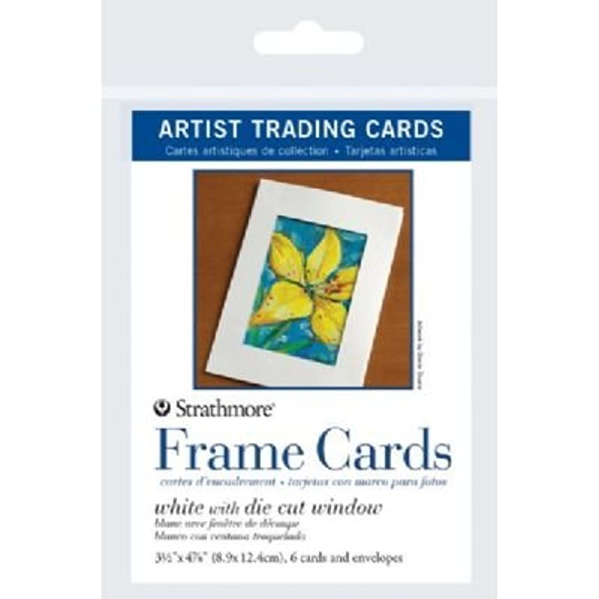 Strathmore ST105-912 3.5 in. x 4.875 in. White Die Cut Window Artist Trading Card Frame Cards