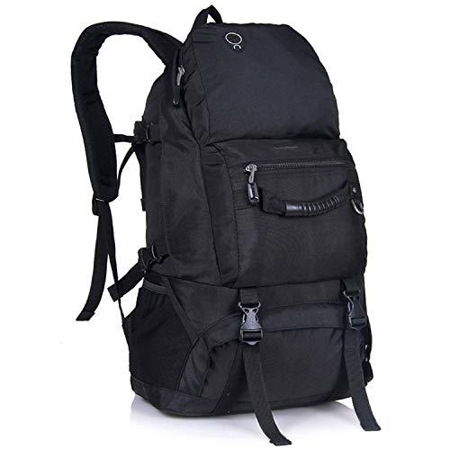 OASIS LAND Outdoor Waterproof Hiking Backpack 40L Mountaineering Women Men Camping Travel Bag Trekking Climbing Bag Rucksack-Black-OneSize