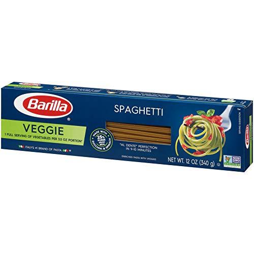 Barilla Veggie Pasta, Spaghetti Pasta, 12 Ounces (Pack of 20)