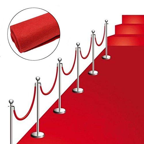 Roter Teppich VIP Deko Empfangsteppich Hochzeit Deko 450x61 cm Red Carpet