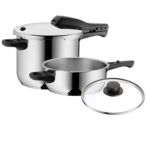 WMF Pressure Cookers Set, Silver, 3-Piece