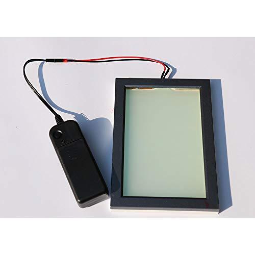 Hoho Elektronische PDLC-Smart-Folie, A4-Probe, schaltbare Folie, elektrische Sichtschutz-Glasfolie, 21cm x 29,7cm