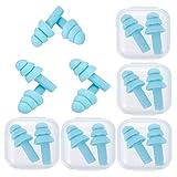 Opopark 8 Tapones para Los Oídos de Silicona Suave para Reducir el Ruido, Tapones para Los oídos...
