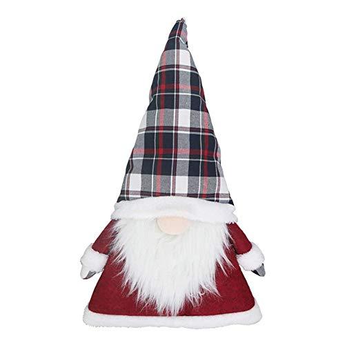 Dheera Santa Gnomes Plush Toy, Cute Handmade Faceless Gnome Christmas Elf Decoration for Christmas Tree Topper Ornaments Xmas Holiday Thanks Giving Day Home Decor