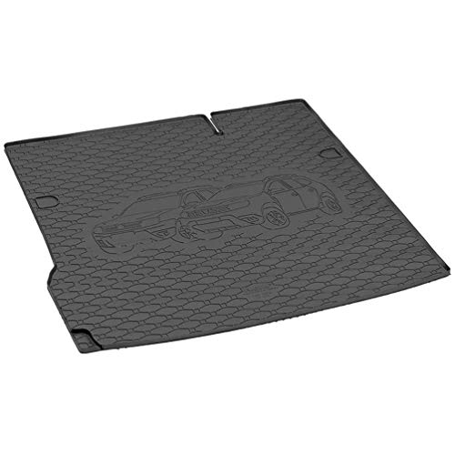 AMPTRV Alfombrillas Maletero for Duster 4x2 2018,Trunk Luggage Floor Liner Tray Rubber Tailored Waterproof dustproof Protection Carpets Rear Cargo Utility Mat Interior Trim Modification Accessories