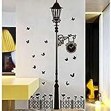 YANGSHUANG pegatina de pared Nuevas pegatinas de pared de vinilo desmontables Faroles y vallas de hierro diy decoración para el hogar calcomanías de pared 100x180cm