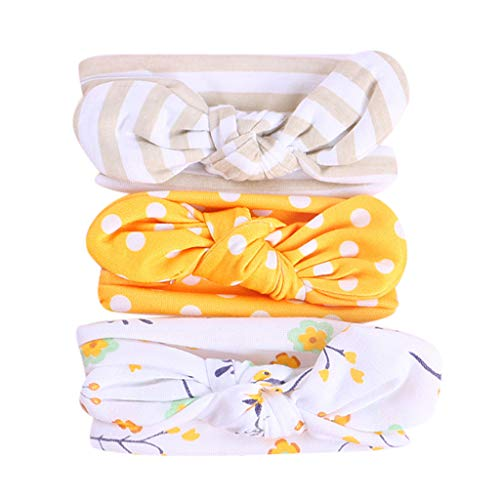 2019 Best Gift!!!Cathy Clara 3Pcs Kids Floral Headband Girls Baby Elastic Bowknot Accessories Hairband Set Kids Hair Accessories,Baby Girl's Headbands and Bows Hair Accessories