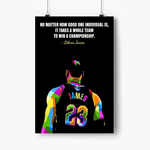 Lebron James Poster Quote Wall Art