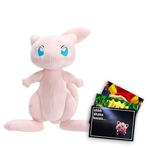 Lively Moments Pokemon Plüschtier Mew ca. 20 cm / Kuscheltier / Pokemonfigur / Stofftier + Exklusive GRATIS Grußkarte