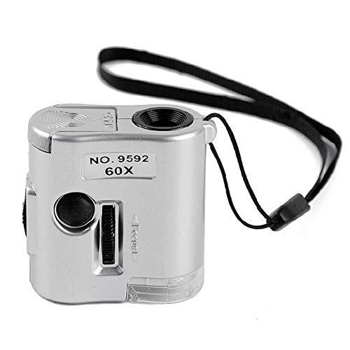 YUXIwang Microscopio 60X Mini Anello Gioielli Basso Consumo Pratica luce LED Magnifier portatile falso valuta Detect microscopio