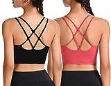 Yutdeng Sujetador de Camisola para Mujer Sujetador de Dormir Sujetadores Deportivos Yoga sin Costuras Ropa Interior Cruzados Espalda Yoga Bra para Mujer
