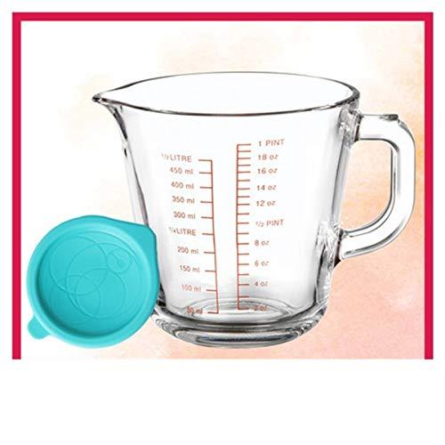 SHTSH Copa de leche Vidrio Con Graduado taza de medición Con domésticas...