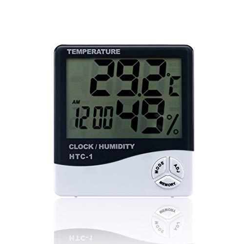 Timetided HTC-1, medidor electr¨®nico de temperatura y humedad LCD para interiores, term¨®metro...