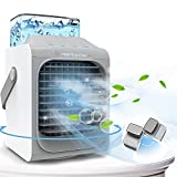 Portable Air Conditioner, 90° Oscillating Portable Cooler, Cordless Personal Air Cooler, As seen on TV, Quick and Easy way to cool personal space, Suitable for Bedside, Office& Study Room, 3 speeds 7 colors (grey)