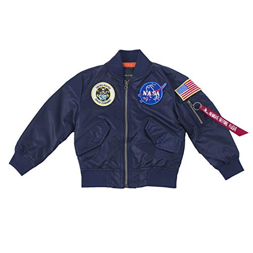 Mens Flight Military Blue NASA Jacket for Boys
