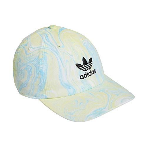 adidas Originals Men's Relaxed Strapback Cap, Ambient Sky Blue/Pulse Yellow, One Size
