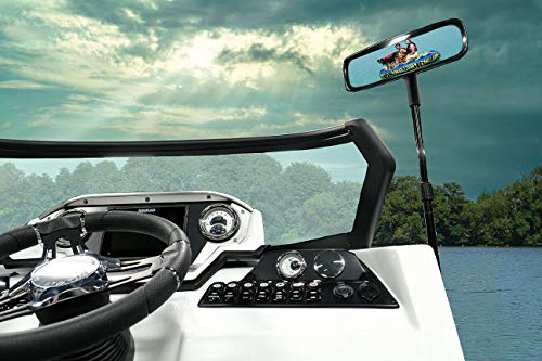 "Extra Large Pontoon Boat Mirror (5"" x 11.8"") & Bracket, New, Folding, Adjustable by Maverick Advantage"