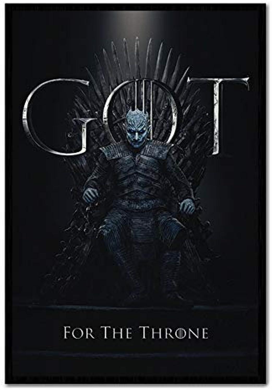 IPosters Game of Thrones die Nacht King für The Throne Plakat Kork Pinnwand  black